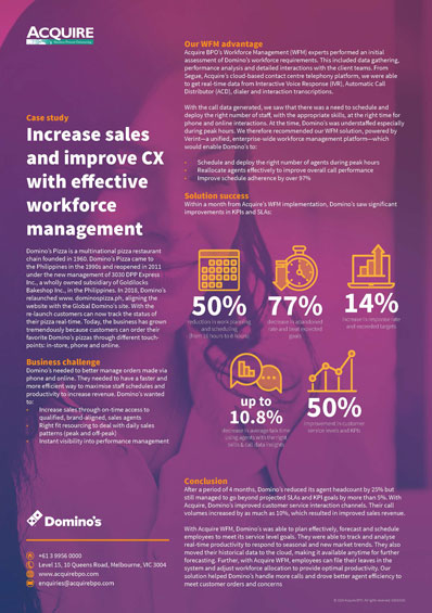 Increase sales and improve CX with effective workforce management