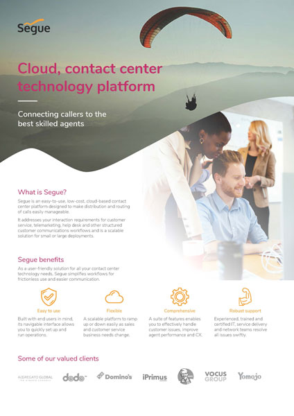 Connect callers to the best skilled agents with Segue